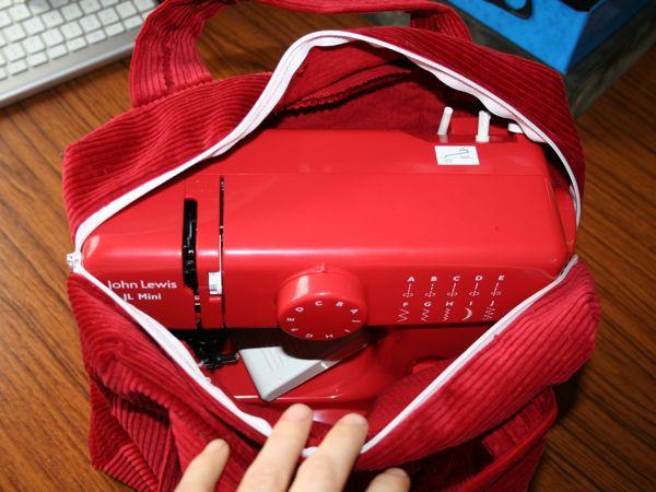 Red Jl Mini Sewing Machine Bag Fehrtrade