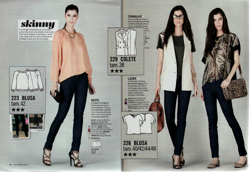 Fehr Trade: Manequim April 2013 (Oscar dress pattern party!) Jeans And Tops For Party